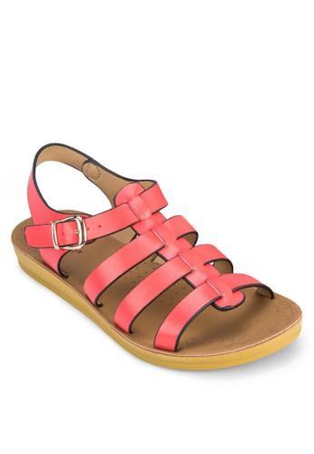 寬zalora 男鞋 評價帶繞踝羅馬涼鞋, 女鞋, 鞋