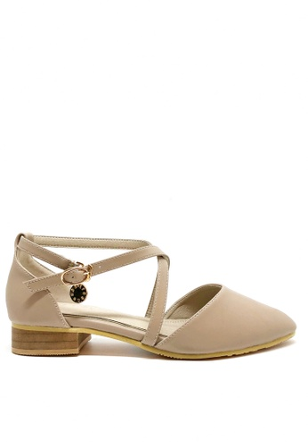 Twenty Eight Shoes pink Cross Strap Ballet Flats 761C2SHAAB8B39GS_1