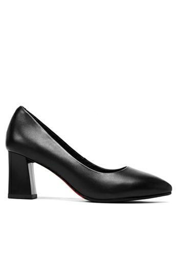 Twenty Eight Shoes 黑色 真皮製服工作高踭鞋 B39D0SHC5210ECGS_1