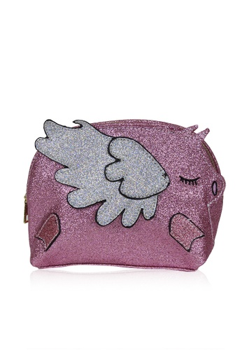 Dazz pink Glitter Flying Piggy Bag - Pink DA408AC0S9K1MY_1