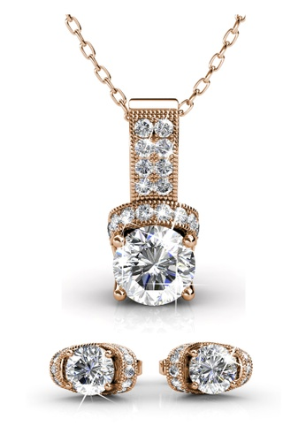 Her Jewellery gold Swarovski® Crystals - Eve Combo Set ( Pendant / Earrings / Ring ) (Rose Gold) - (18K Rose Gold Plated) Her Jewellery HE581AC0RDOHMY_1