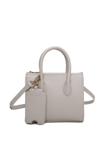 Milliot & Co. grey Sebastiane Mini Top Handle Bag 132E3ACE8A2DEEGS_1