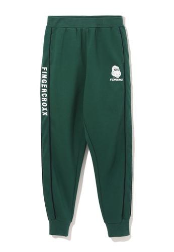 Fingercroxx green Bigfoot tape jogger pants 74185AA35B3A98GS_1