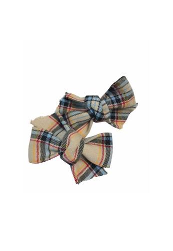 Chica Chico brown Brown Ribbon Clips_Set 451E1KC2A8DBDEGS_1