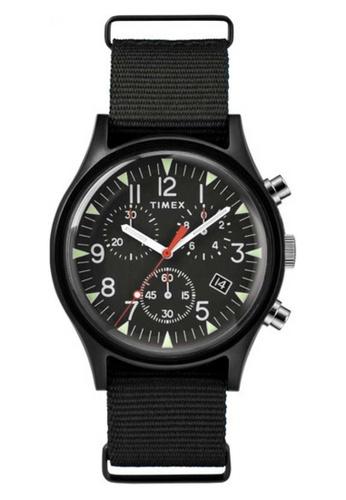 Timex black Timex MK 1 Aluminium Chrono 40mm - Black Case & Fabric Strap (TW2R67700) 3F8C6AC7576A64GS_1