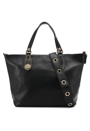 Perllini&Mel black Faux Leather Satchel Top Handle Bag PE444AC0SJ03MY_1