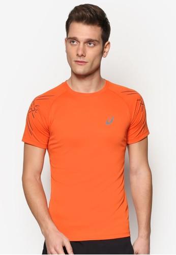Shorts Sleeve Asics Stesprit taiwanripe Top, 服飾, 運動