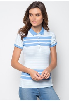 Ladies Slim Fit Stripes Polo Tees