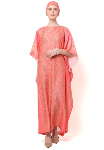 Kanzi by liza yahya pink Kanzi Exclusive Short Sleeve Songket Kaftan A21EDAA2EF47B5GS_1