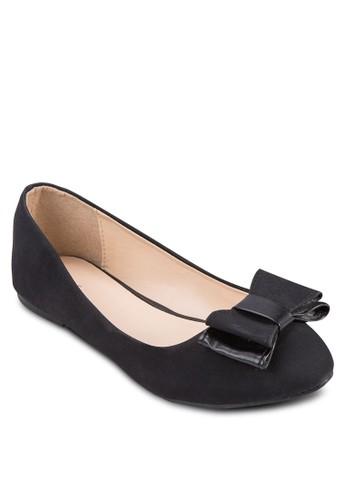蝴蝶結基本款平esprit au底鞋, 女鞋, 鞋