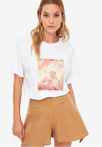 Trendyol white Graphic T-Shirt 24722AAF8AE19BGS_1