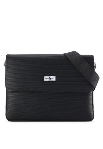 Swiss Polo black Swiss Polo Sling Bag SW912AC15PIQMY_1