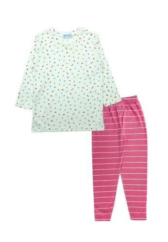 MELLOW Mellow Leaf Printed Sleepwear(Pink) 1E560KA5A19799GS_1