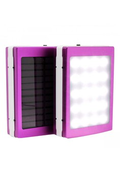 7,000 mAh Solar Power Bank With LED Panel Light