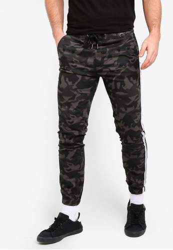 Cotton On green and multi and brown Drake Cuffed Pants DCCADAA45D63F7GS_1