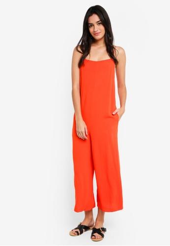 TOPSHOP orange Square Neck Wide Leg Jumpsuit BB042AAA8A3898GS_1