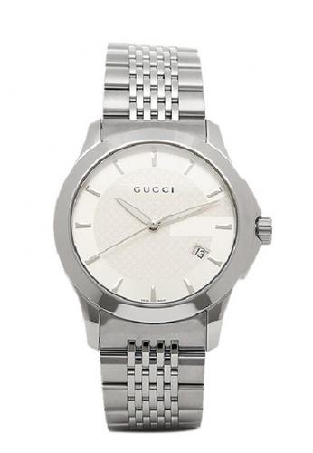 01814126947a Gucci silver GUCCI G Timeless Men s Stainless Steel Bracelet Watch  B6DA6AC56286FEGS 1