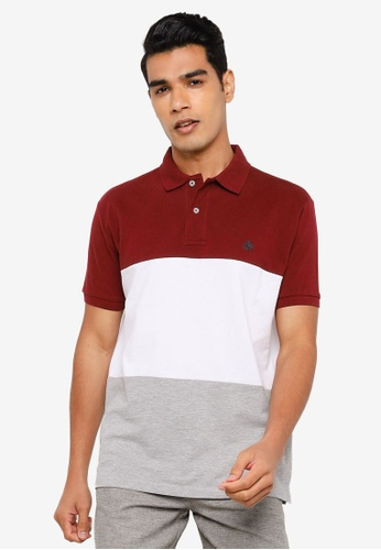 Springfield red Three Tone Pique Polo Shirt 03B04AAD1D4EEDGS_1