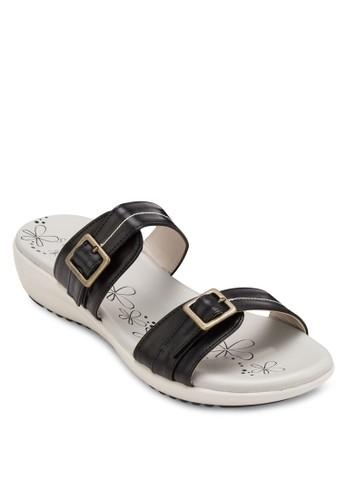 雙扣環帶厚底涼鞋, 女鞋esprit台灣, 涼鞋