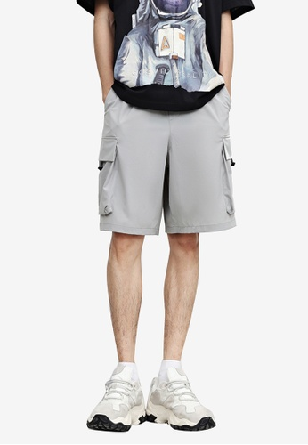 Urban Revivo grey Casual Shorts 9EC82AA1F087E3GS_1