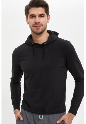DeFacto 黑色 Man Knitted Sweat Shirt 06D40AA62E3F1FGS_1