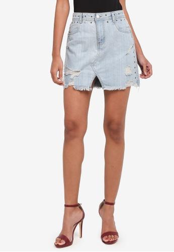 Supre blue Winona Stud Skirt 6F4CAAAFD996A3GS_1