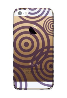 Casey Crazy - Radial Purple Semi-Transparent Hard Case for iPhone 5,5s