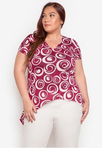 Audrey red Micha Plus Size Blouse AU926AA0JOX6PH_1