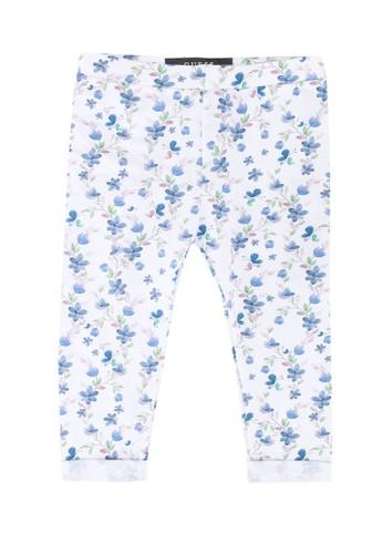 Guess blue Blue Flower Printed Leggings 8A7FFKAD4E5792GS_1