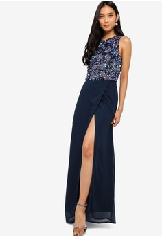 4b4867a247c Lace   Beads Keisha Embellished Wrap Maxi Dress S  192.90. Sizes S M L XL