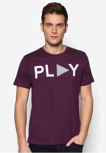 esprit 面試文字設計短袖TEE, 服飾, 印圖T恤
