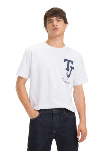 d50e9da6 Buy Tommy Jeans TJM COLLEGE EMBLEM TEE Online on ZALORA Singapore
