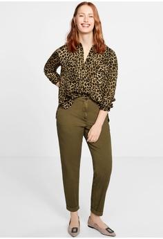 25b9001b63 Violeta by MANGO Plus Size Leopard Print Shirt RM 209.00. Sizes S M L XL