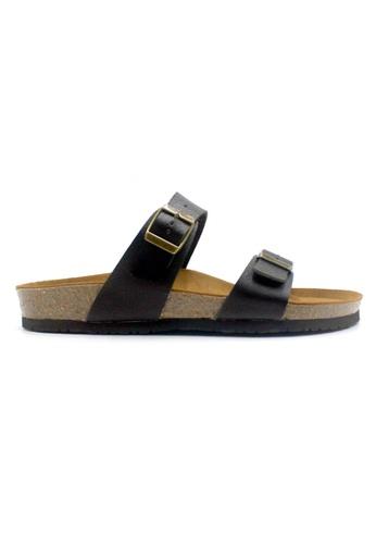 SoleSimple black Glasgow - Black Leather Sandals & Flip Flops 41E9FSHB33452AGS_1