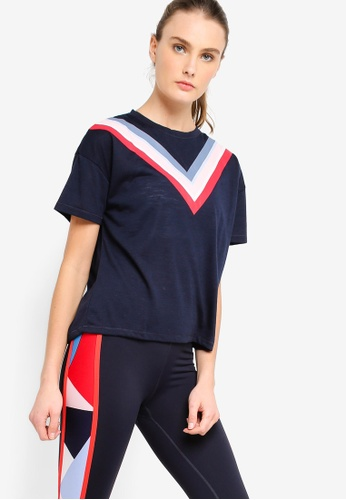 Cotton On Body blue and navy Boxy Slub T-Shirt A8EE0AAE906907GS_1