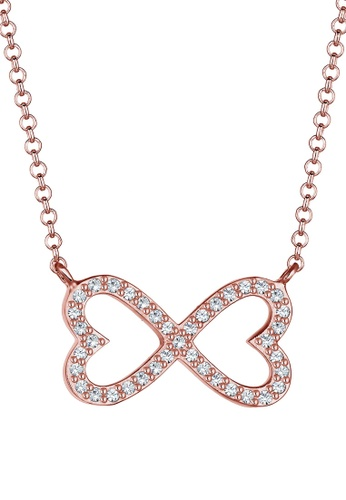 ELLI GERMANY pink Necklace Heart Infinity Crystal 1ECE0ACE5876C6GS_1