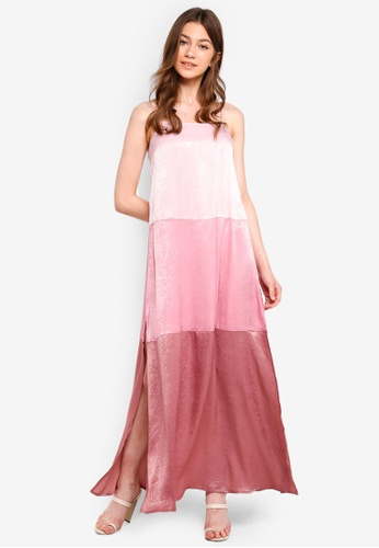 Something Borrowed pink Panelled Cami Maxi Dress 553ACAA3A54314GS_1