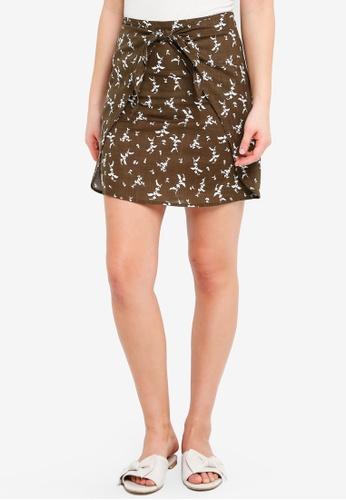 Cotton On multi Woven Kelly Knot Front Mini Skirt 247AAAAA81B7C5GS_1