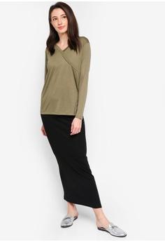 quality design 906ff fb559 15% OFF Zalia Wrap Front Tunic RM 69.00 NOW RM 58.90 Sizes XS S M L XL