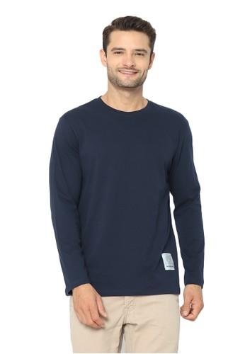 Tendencies blue and navy Tendencies Tshirt LONG SLEEVE NAVY D5D0DAA206352AGS_1