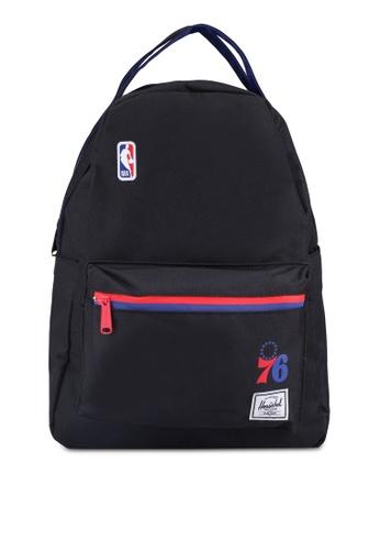 Herschel black Nova Mid Volume Backpack (Philadelphia 76ers) 8291EAC82C1638GS_1