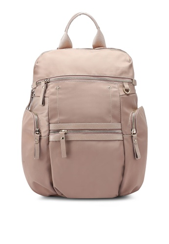 buy nuveau premium pu trimmed oxford backpack online on zalora singapore