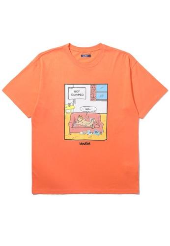 BLOCKAIT orange Akita Ken Got Dumped tee 61248AA1DC69A1GS_1