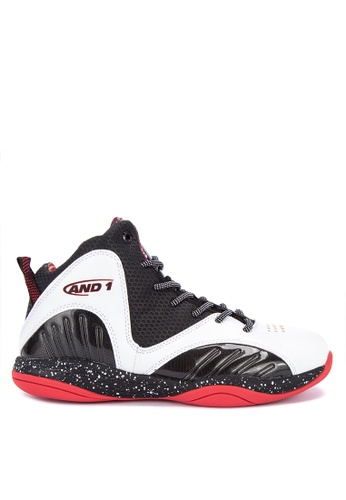 And1 black and multi Size 'M Up Mixtape Edition Basketball Shoes B25B3SH8C45C6FGS_1