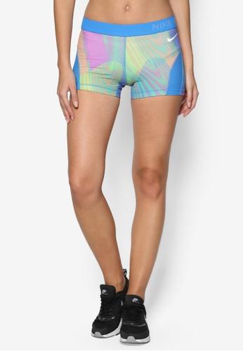 Nike blue and multi Nike Pro Hypercool Frequency Women's Shorts NI126AA90YARMY_1