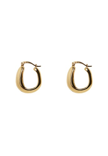 Mango gold Twisted Hoop Earrings 2A568AC8C9D1CBGS_1