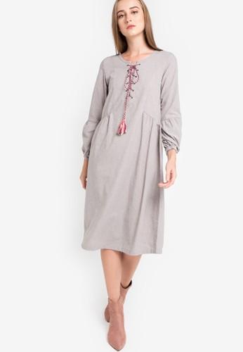 GRAPHIS grey Midi Dress AC447AA628E3B0GS_1