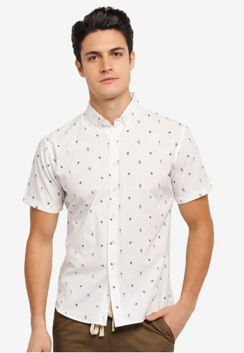 JAXON white Nature Small Motif Short Sleeves Shirt BEB23AAA79DE8AGS_1