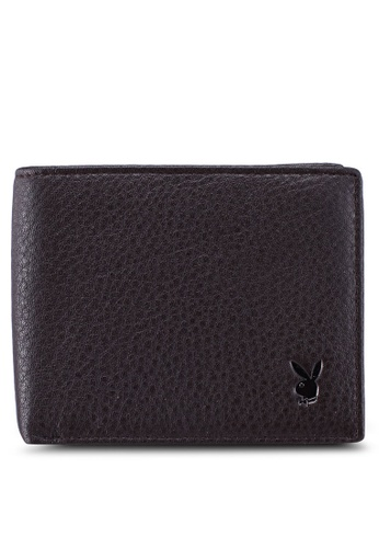 Playboy brown Faux Leather Rfid Blocking Wallet 37C12ACACD7489GS_1