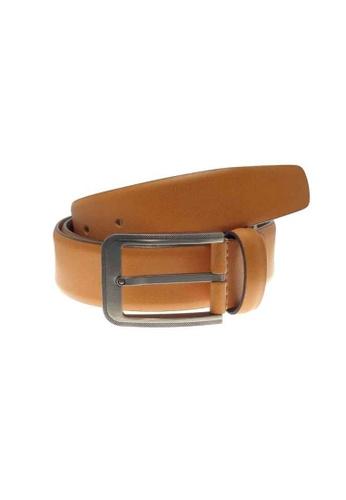 Oxhide brown Formal Leather Mens Belt - Business Belt Brown - Profile Tan 67439ACB408563GS_1
